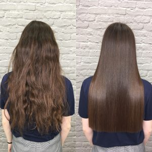 Sick,,Cut,And,Healthy,Hair.,Before,And,After,Treatment.